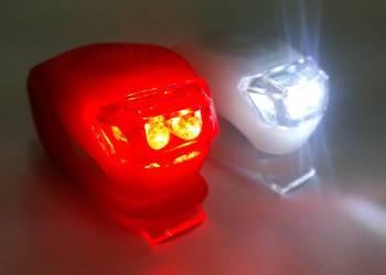SILIKONOWE LAMPKI ROWEROWE OŚWIETLENIE PRZÓD TYŁ