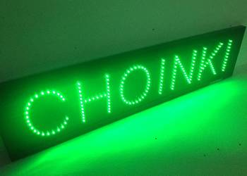Choinki LED reklama 230V 100x25cm zewnętrzna
