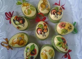 Pisanki decoupage jajka wielkanocne dekupaż ozdoby świąteczn