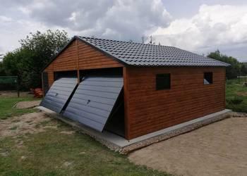 garaż blaszany drewnopodobny garaże blaszane blaszak wiata