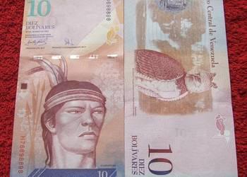 WENEZUELA 10 Bolivarów INDIANIN Kolekcjonerski Banknot UNC