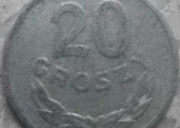 POLSKA-20 GROSZY-1965 r-AL-