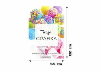 TABLICA REKLAMOWA Z PŁYTY HDF nadruk TWOJEJ GRAFIKI 82x55 cm