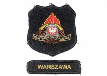 Naszywka Państwowa Straż Pożarna Warszawa