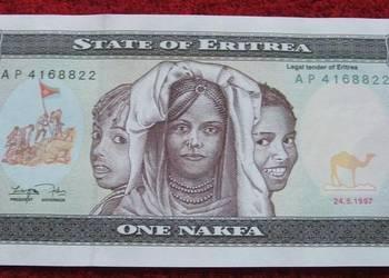 ERYTREA 1 NAKFA Kolekcjonerski Banknot - 1 sztuka UNC