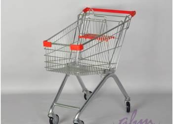 Wózek sklepowy z siedziskiem ocynk/czerwony