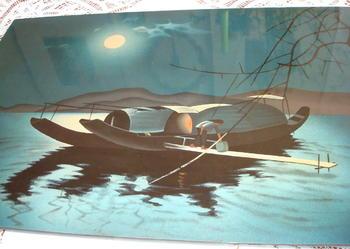 """Unikatowy wietnamski obraz z laki """"W blasku księżyca"""""""