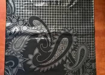 Reklamówki czarne srebrne szare 40 45 turecki wzór odzież
