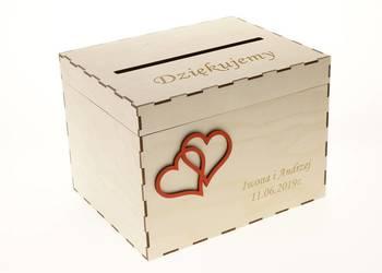 Drewniane ślubne Pudełko na koperty, kartki
