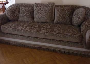 Sofa stylowa Greta klasyczna kanapa wypoczynek welur trójka
