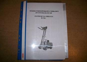 DTR z katalogiem części wózka widłowego DV1733 Balkancar.