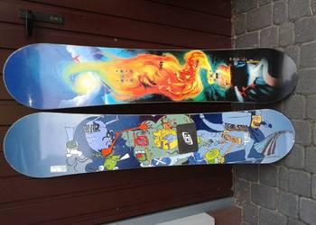 Deska, deski snowboard 100- 166 cm , buty wiązania, narty