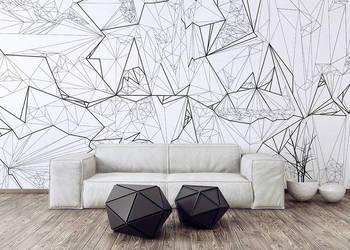 Fototapeta geometryczna czarno biała nowoczesna Fototapety