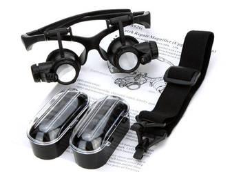 LUPA Okulary TECHNICZNE + Soczewki X10 X15 X20 X25