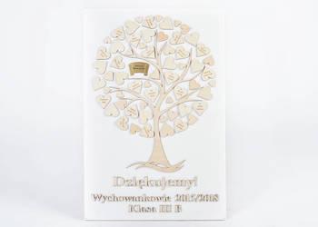Drewniane drzewko na płótnie DLA WYCHOWAWCY z imionami dziec