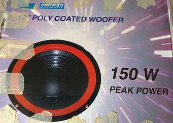 10' Poly Coated woofer 150W