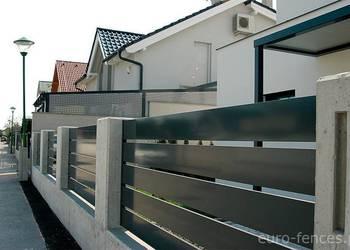 Nowoczesne poziome ogrodzenie aluminiowe TRIEST