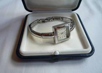 Zegarek damki Palmas Quartz Kwadratowy Srebrna bransoleta