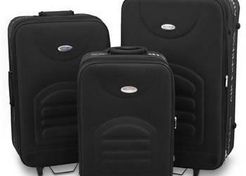 SET Walizka walizki materiałowa czarna lekka PREZENT ŚWIĘTA