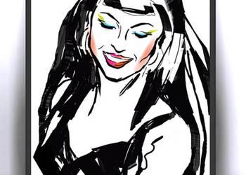 30x40 cm plakat w stylu pop art,dziewczyna grafika dekoracyj