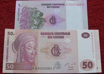 KONGO Kolekcjonerskie Banknoty Zestaw - 2 sztuki UNC