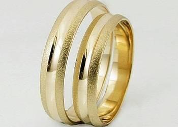 Złote obrączki 4 mm przepiękny wzór od producenta