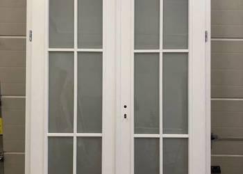Od ręki drzwi białe sosnowe francuskie szpros RAL9016