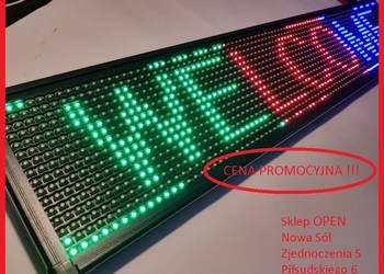 Najnowsze Tablica Reklama Świetlna LED Panel 100x20cm Nowa Sól - Sprzedajemy.pl DU09