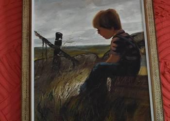 Obraz oleodruk, chłopczyk