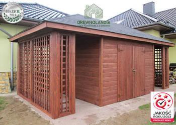 domek narzędziowy gospodarczy drewutnia altanka Drewnolandia