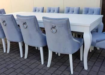 Nowoczesne krzesło z kołatką hampton pikowane tapicerowane