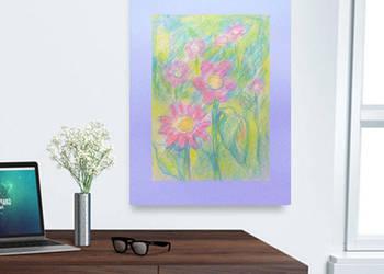 ładny obrazek kwiaty,obrazek do pokoju,obrazek kwiatami,szki