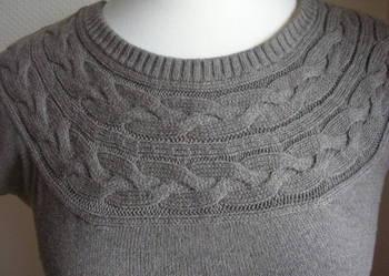 H&M Sukienka wełniana swetrowa warkocz