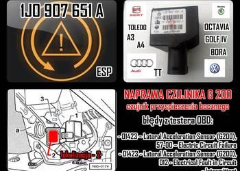 CZUJNIK G200 ESP 1J0 907 651 A GOLF IV AUDI A3 TT naprawa