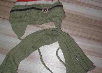 czapka z szalikiem