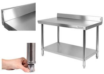 Stół gastronomiczny z rantem i półką 100x70cm Yato