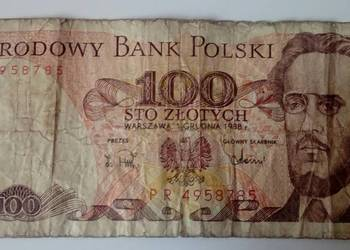 Banknot 100 zł Ludwik Waryński 1988 r.