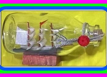 JB Unikatowy Statek w Butelce (Rafandynka) dł.11cm