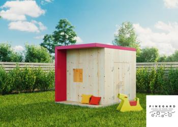 Nowoczesny drewniany domek dla dzieci z drewna Pinegard Rod