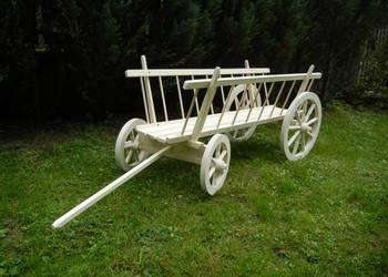 Wóz drewniany do ogrodu  Woz drabiniasty Dekoracja