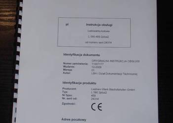 Instrukcja obsługi DTR ładowarki kołowej LIEBHERR L580 2plus