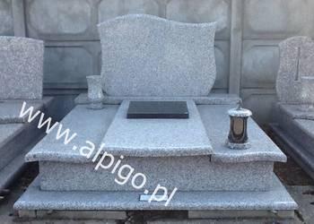 Nagrobek, pomnik granitowy Alpigo.pl / Srebrzysty
