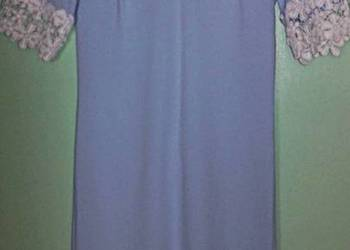 sukienka baby blue gipiura