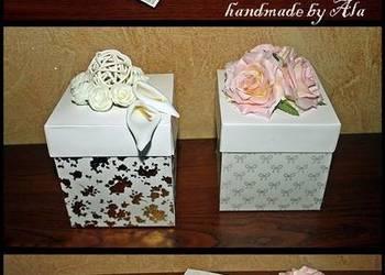 Exploding box ślub wesele prezent życzenia kartka złote gody