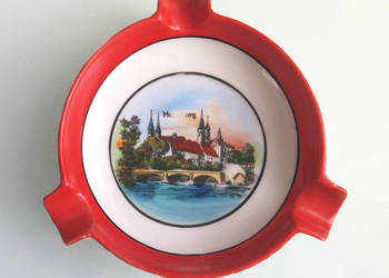 ceramiczna popielniczka z PRL, Merseburg
