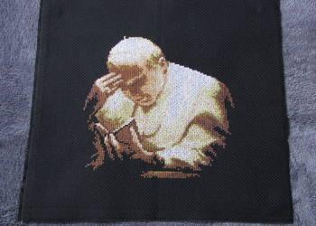 obraz haft krzyzykowy JPII