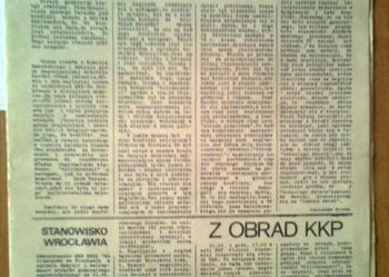 Sprzedam gazetki solidarności dolnośląskiej z 1980 i 1981 r.