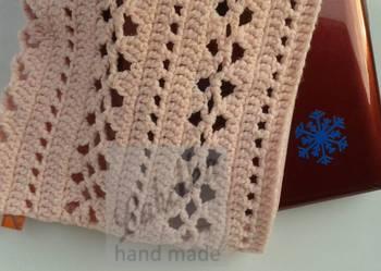Pokrowiec - etui różowy na laptop ręcznie wykonany