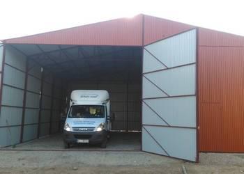 Garaż blaszany na maszyny rolnicze wiata hala 12x12 garaze Limanowa
