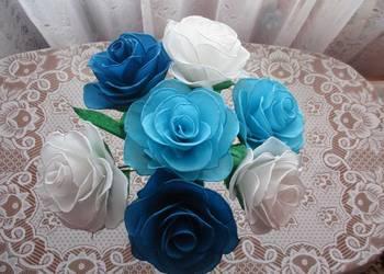 Bukiet 7 szt.  róż rękodzieło na prezent, ślub, imieniny